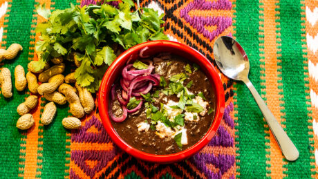 Vegansk black bean soup