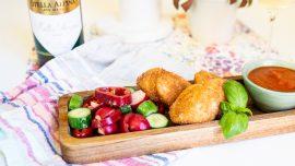 Chicken nuggets på amerikansk-italienska