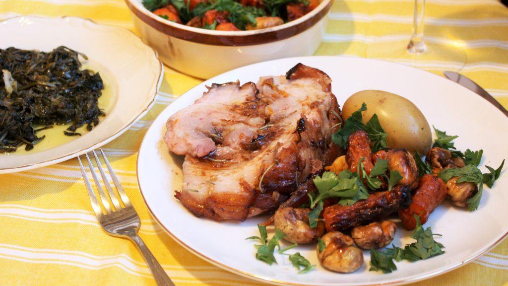 porchetta, middag