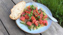 Tonfisk med apelsin, rosmarin och chili