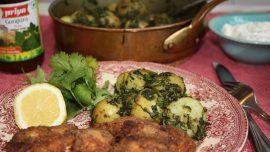 Indisk potatis med bockhornsklöver