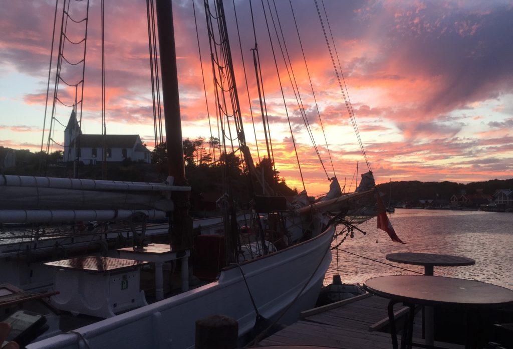 Solnedgång över Hamburgsund