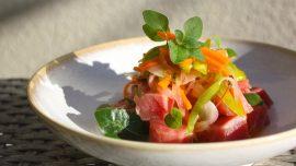 Escabeche, tonfisk med apelsin och habanero