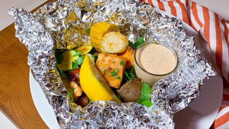 kreolska fiskpaket