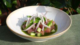 Aguachile på tonfisk