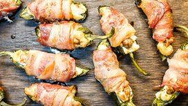 Baconlindad ostig jalapeno