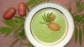 Peruansk soppa med örter, ost och potatis