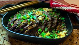 Fu Qi Fei Pian – Sichuansk skivad biff i chilisås