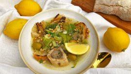 Lätt och smakrik kalvgryta med citron och oliver