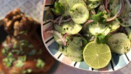 Peruansk gurksallad med lime och koriander
