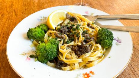 pasta med rådjur