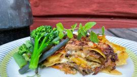 Lasagne med kyckling och kantareller